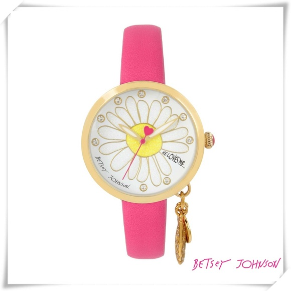 """Betsey Johnson Accessories - ✤ He Loves Me Dangle Charm """"Betsey Johnson"""" Watch"""